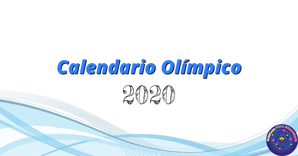 Calendario Olímpico 2020
