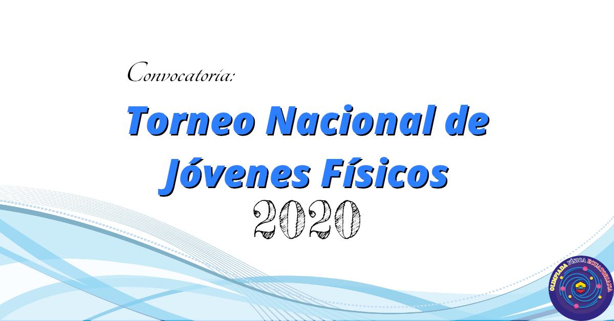 Torneo Nacional de Jóvenes Físicos 2020